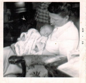 Baby Patti with her mother