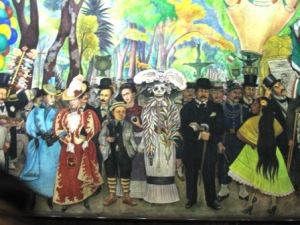 The small boy is Diego Rivera and standing behind him is Frida Kahlo